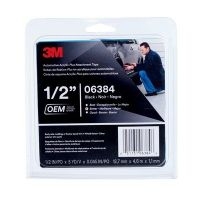 3M Automotive Acrylic Plus Attachment Tape Black 45 mil (1/2 in x 5 yd)