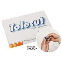 Tolecut Touch Up Orange Stickon Dry Sanding Sheets Grade K-1200 (25/Box)