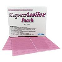 Super Assilex Peach Super-Tack Dry Sanding Sheets Grade K-1500 (25/Box)