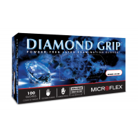 Diamond Grip Powder-Free Latex Disposable Gloves - Medium (100/Box)