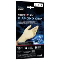 Diamond Grip Powder-Free Latex Disposable Gloves - Large (10/Pack)