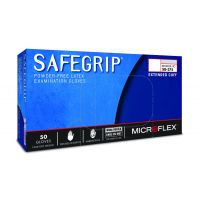 SafeGrip Powder-Free Extended Cuff Latex Disposable Gloves - Medium (50/Box)
