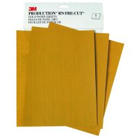 Gold 9 in. x 11 in. P400 Grit Abrasive Sanding Sheet (50/Box)