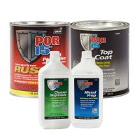 Rust Preventative Coating Silver Top Coat Quart Kit