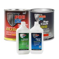 Rust Preventative Coating Safety Red Top Coat Quart Kit