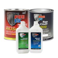 Rust Preventative Coating Gloss White Top Coat Quart Kit